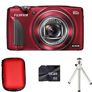 Fujifilm FinePix F900EXR - Red + Case + 8GB Card and Tripod (16MP, 20x Optical Zoom)3 inch LCD