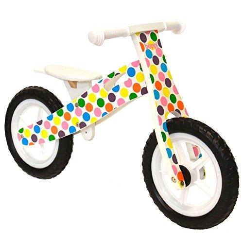 boppi® Bici sin Pedales de Madera para Niã±Os de 2-5 Aã±Os - Topos de Colores