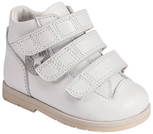 Piedro Concepts–Modèle 2299–stabilité–Fuchsia–Cuir–Velcro–Largeur 3–Taille–15 Blanc