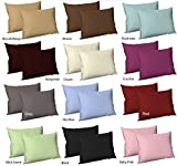 AR'S Plain Dyed PolyCotton Housewife Pillow Cases Pair Pack 16 Colours