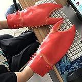 SHUNDATONG 1 Par Novedad Langosta Garras de cangrejo Guantes de mano Marionetas de mano Dedos Juguetes Juguetes Fiesta de Halloween Cosplay Guantelete de dibujos animados Cangrejo de langosta Traje Único Carnaval Fantasía Cosplay