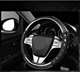 #10: NIKAVI Car Fashion Steering Wheel Cover (Black)