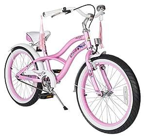 BIKESTAR® Premium Design Kinderfahrrad für coole Kids ab 6 Jahren ★ 20er Deluxe Cruiser Edition ★ Glamour Pink