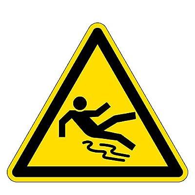 Warnzeichen - Warnung vor Rutschgefahr - Kunststoff Selbstklebend