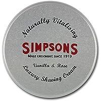 Simpsons Lusso Crema Da Barba Vaniglia E Rosa 125 ml Latta
