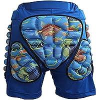 LHKAVE Pantalones Cortos Acolchados Cadera De Protección Protectora Resistencia A La Caída para Patinaje De Esquí Snowboard Ciclismo Se Adapta A Los Niños,Blue,S