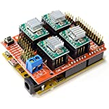 Kit CNC. Arduino UNO R3 Compatible + CNC Shield V3.03 + 4 Pololu A4988 Drivers.