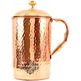 IndianArtVilla Hammered Copper Jug Pitcher, Drinkware & Serveware, Good Health Benefits, 2000 ML, Copper