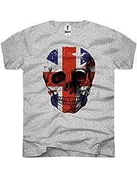 TEE-Shirt, Men T-Shirt Flag-Skull-Union Jack