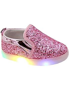 Highdas Kinder LED Licht Schuhe weiche Sohle Prewalker Prinzessin Loafer