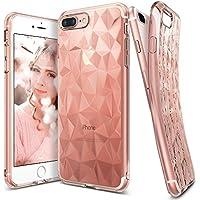Custodia iPhone 7 Plus, Ringke [AIR PRISM] 3D Design contemporaneo ed elegante e ultrasottile ed elegante geometrico Disegno flessibile pieno-corpo protettivo testurizzata TPU resistente alle cadute coprire per Apple iPhone 7 Plus - Rose Gold