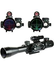 Spike Lunettes de visée Airsoft 3-9X40EG Illuminated Chasse Rouge / Vert Riflescope laser holographique avec Dot Sight Combo viseur d'arme