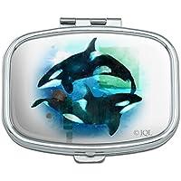 Orcas Killer Whales Watercolor Pille Yin Yang, rechteckig, Trinket-Box preisvergleich bei billige-tabletten.eu