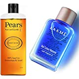 Pears Pure and Gentle Shower Gel, 250ml & Lakmé Nail Color Remover, 27ml