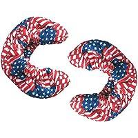 Suave Terry Blade covers para patines de hielo diseño de la bandera de Estados Unidos