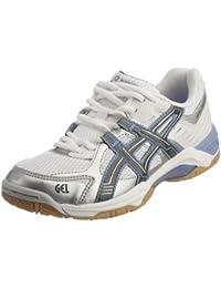 Asics - Zapatillas para deportes de interior de cuero nobuck para mujer