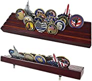 AtSKnSK Military Collectible Challenge Coin Display Holder Stand Holds 28-32 Coins (Large, 4 Rows)