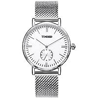 Time100 Orologio uomo acciaio con un cinturino in tela di