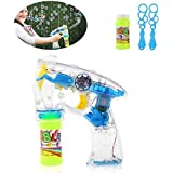 Zest 4 Toyz Battery Operated Led Bubble Shooter Gun with Bottle Inside (Assorted)