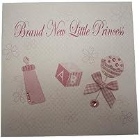Nuova carte di cotone bianco carta marchio Little Princess modello mano sonaglio rosa