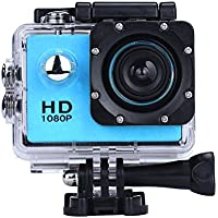 Sport Camera, Rcool Mini 1080P Full HD DV Digital Sport Recorder Waterproof Action Camera Camcorder with Mounting Accessories Kits for Bike Motorcycle Surfing Diving Swimming Skiing etc (Blue)