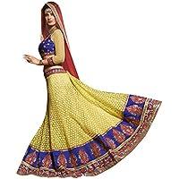 Vibrazioni da donna alla moda NET un-stitched partito indossare Lehenga Choli