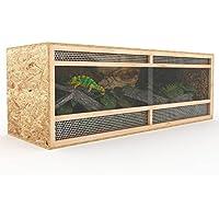Happypet Terrarium aus Holz 148 cm breit aus OSB Platten Holzterrarium mit Seitenbelüftung