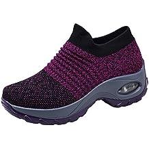 6c3f9bcd0 Zapatos Deporte Mujer Zapatillas Deportivas Correr Gimnasio Casual Zapatos  para Caminar Mesh Running Transpirable Aumentar Más