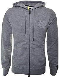 Replay Men's Grey Hooded Zip Through Sweatshirt
