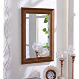 [Sponsored]Zahab Fibre Frame Antique Design Bathroom Mirror/ Decorative Mirror (Size: 12 X 1 X 18 Inches)