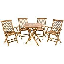 Balkonset Bistroset Sitzgruppe Holz Gartenmöbel Set ARUBA 3-teilig Kolonialstil