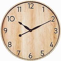 Foxtop 30 cm Reloj de pared retro silencioso de la vendimia para la decoración casera de la pared, país / reloj francés del estilo
