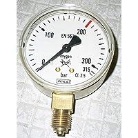 WIKA Manometer Sauerstoff Genauigkeitsklasse 2.5 Durchmesser 63mm Anzeige 0.315/400 bar
