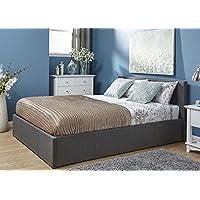 5FT final de techo Otomano plata gris diseño Floral Tejido final de cama de almacenamiento - Muebles de Dormitorio precios