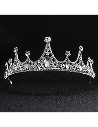 Corona nupcial para bodas, corona nupcial, diadema de aleación de diamantes, elementos barrocos simples, accesorios de boda