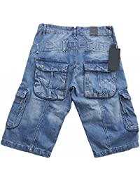 Eto Mens Combat Denim Shorts Light Stonewash - EMS604 f7f7f322d7df