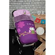 Babyline Búho - Saco de silla de paseo, color morado