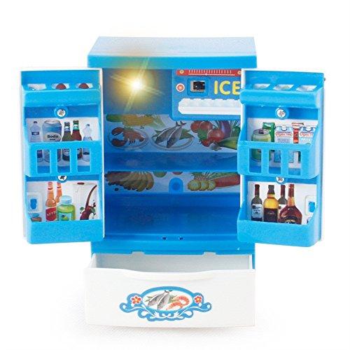 Momola Kinder Spielzeug, Familienküche Baby Kid Entwicklungs Lernspielzeug Simulation HaushaltsgeräTe KüChe Spielzeug Mini Pretend Play Küche Spielzeug für Kinder (Kühlschrank) (Spielzeug Kühlschrank Kid)