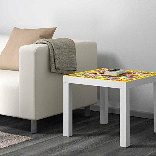 Vinilo Mesa IKEA Lack Personalizada Juego Oca clásico