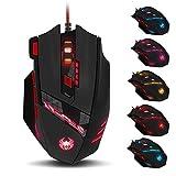 Zelotes (Genre Professional Gaming Mouse, Souris de Haute Précision pour Joueur PC Mac 9200DPI