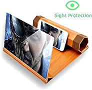Screen Magnifier for Smartphone iPhone Samsung Huawei Cell Phone Holder Stand HD Magnifying Portable Foldable