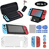 16 en 1 Kit de Accesorios para Nintendo Switch, Funda para Nintendo Switch, Funda Protectora de...