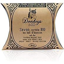 Jabón orgánico a la leche de burra (100 g), con aceite de argán