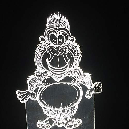 7 Farbe Baby Schlaf Nightlight 3D Led Affe Schreibtischlampe Schlafzimmer Nacht Tier Orang-Utan Licht