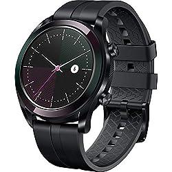 Huawei Watch GT Elegante- Montre Connectée (GPS, Ecran AMOLED tactile, boitier Inox 42mm, autonomie jusqu'à 7 jours) avec Bracelet Noir