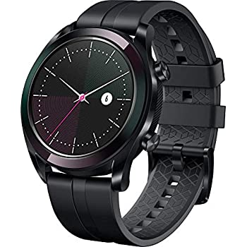Huawei Watch GT Elegante- Montre Connectée (GPS, Ecran AMOLED tactile, boitier Inox