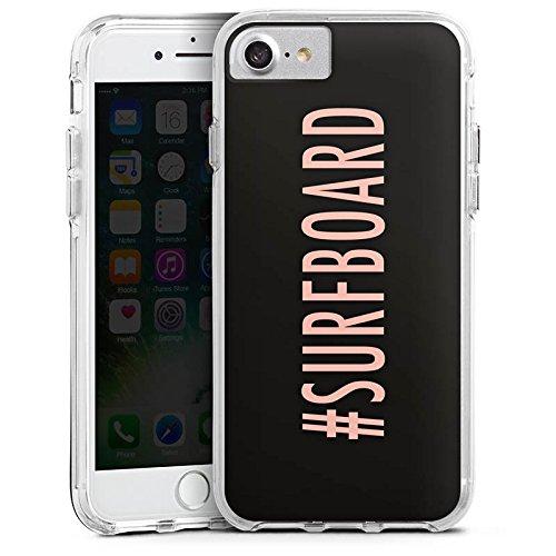 Apple iPhone X Bumper Hülle Bumper Case Glitzer Hülle Surfboard Flawless Statement Bumper Case transparent
