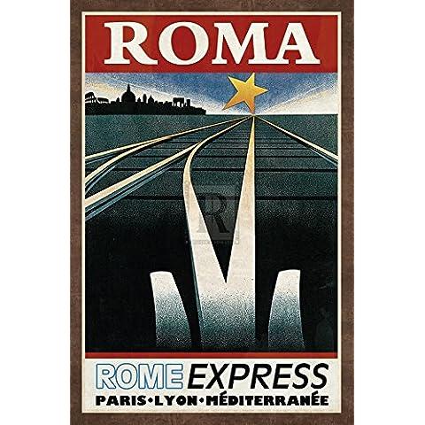 Collection Caprice – Train Roma Artistica di Stampa (40,64 x 60,96 cm)