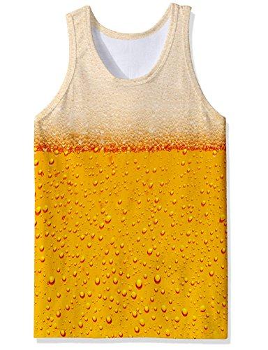 BFUSTYLE Sommer Herren Tank Top 3D Gedruckt Casual Neuheit Lustige Bier Weste T-Shirt (Fragen T-shirt Neuheit Lustige)