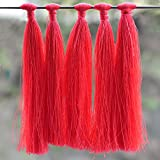#8: Embroiderymaterial Tassels for Craft,Earring Making and Decoration Purpose (10 Pieces,Neon Pink Color)